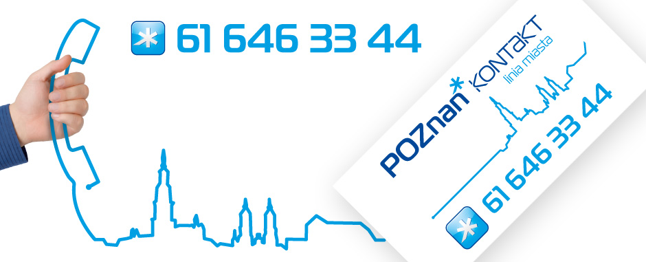 grafika słuchawka telefoniczna i numer 61 646 33 44