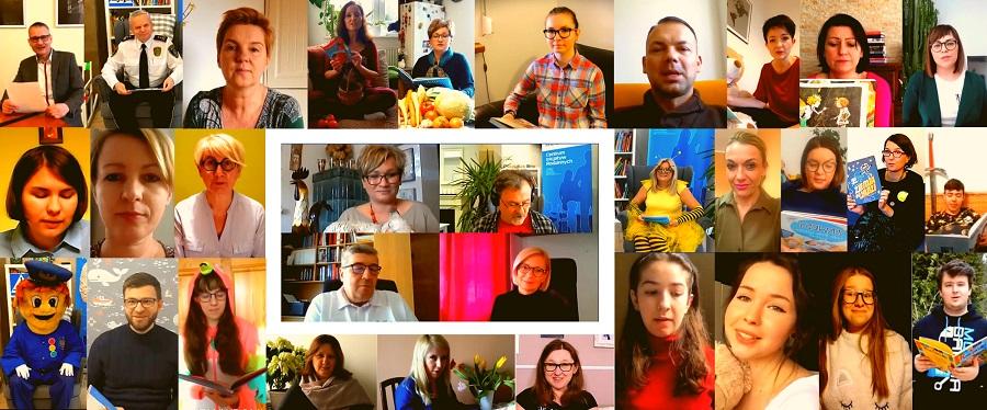 Osoby czytające w projekcie Czytam i czuję #zostańwdomu