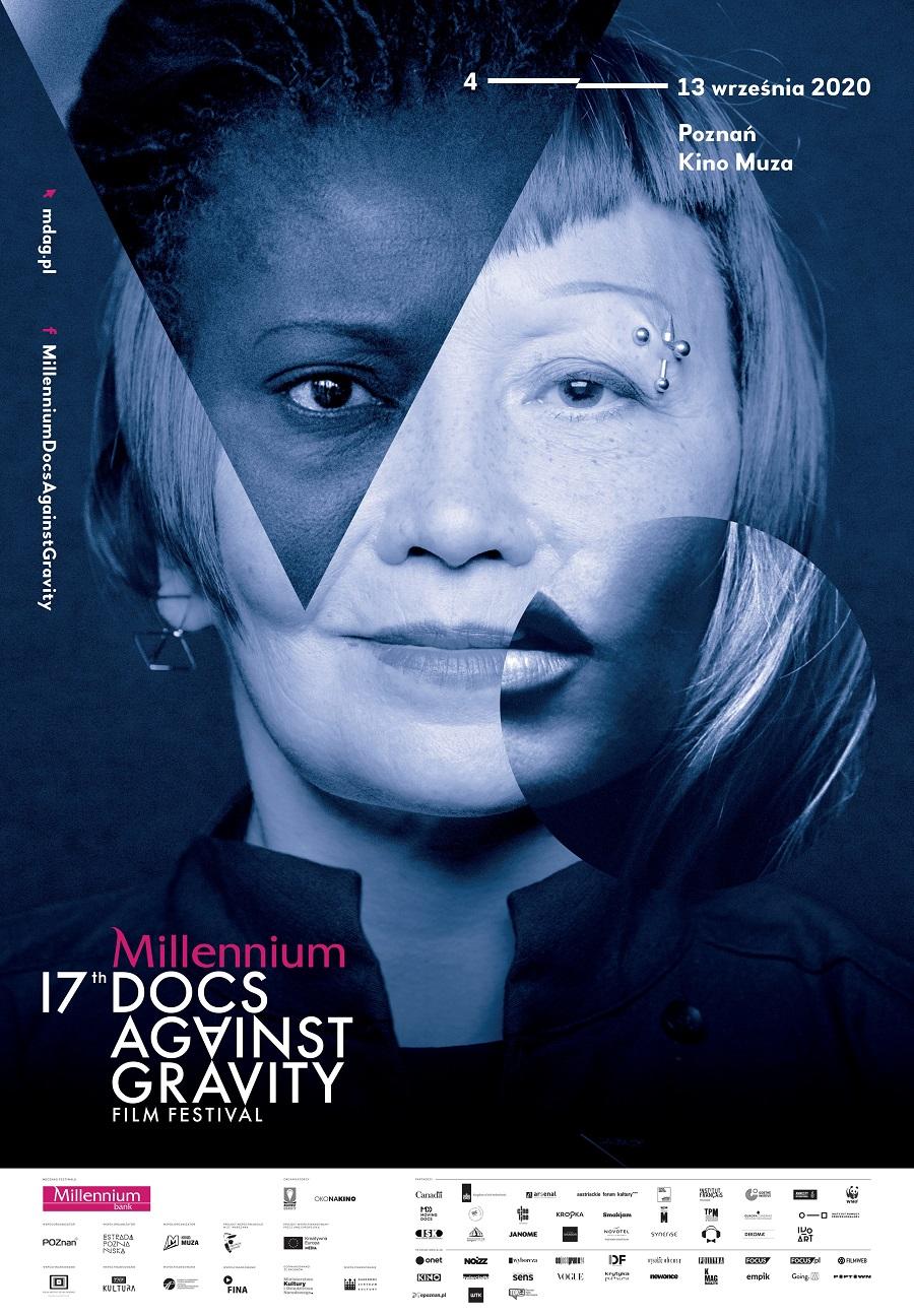 Plakat przedstawiający 17 festiwal filmowy - Millennium Docs Against Gravity