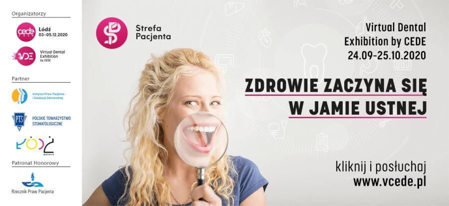 """Plakat wydarzenie """"Zdrowie zaczyna się w jamie ustnej"""" odbywającego się od 24 września do 25 października 2020"""