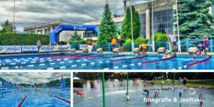 Połaczenie trzech zdjęć wykonanych na Letniej Pływalni Chwiałka.